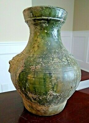 Ancient Large Han Dynasty Glazed Vessel - CHINA - 206 BC to 220 AD