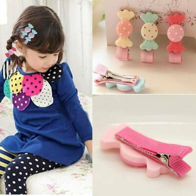 Fashion 6Pcs/lot Baby Girls Kids Fashion Cute Candy Hairpin Bowknot Hair Clip
