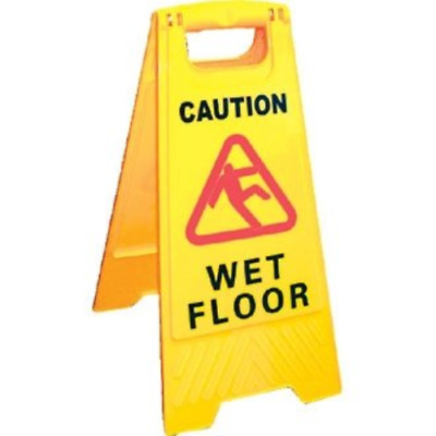 CAUTION WET FLOOR Sign Cleaning in Progress Yellow Warning Cone Hazard Safety UK