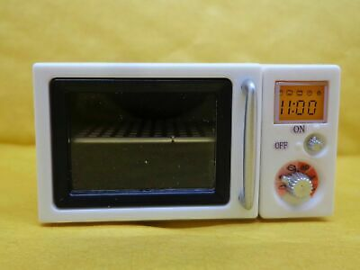 1/12 Dolls House Miniature White Plastic Microwave Oven Q1S2