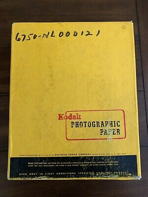 Vintage New Kodak Photograhic Paper 250 Sheets Double Weight F 8x10in Exp 3/62
