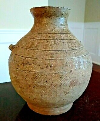 Ancient Han Dynasty Proto-Porcelain Glazed Vessel - CHINA - 206 BC to 220 AD