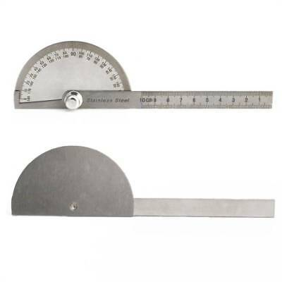 Stainless Steel 0-180 degree Protractor Angle Finder Arm Measuring Ruler Tool  b