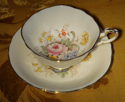 Vintage Paragon Cup & Saucer Pink Rose Floral Gold Trim Made In England