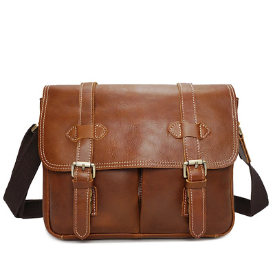 Duffy Genuine Leather Camera Bag Tan