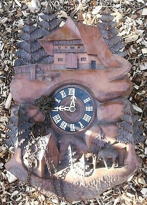 Antique Large Black Forest Cuckoo Clock