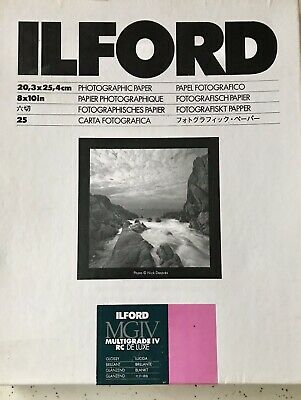 ILFORD MGIV MULTIGRADE IV RC DE LUXE 25 Count./ PAPEL FOTOGRAFICO MULTIGRADO