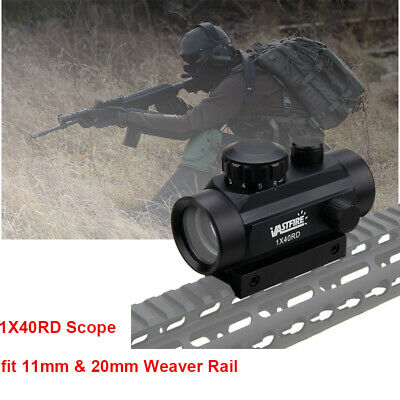 1X40RD Green/Red Dot 4 Reticle Reflex Projected Rifle Scope Holographic Tactical