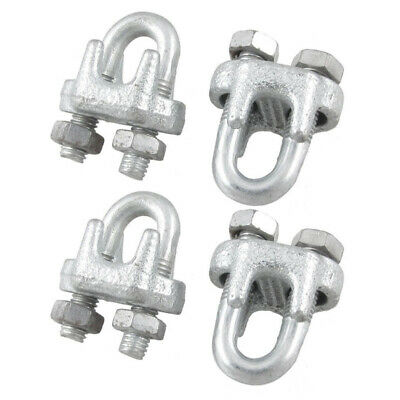 Metal Wire Rope Clip U Bolt Cable Clamps, 1/5-Inch, 4-Piece S9B1