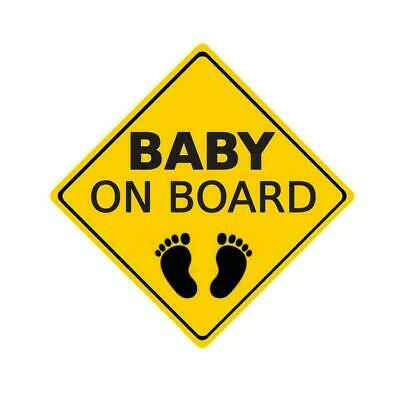"""baby On Board"" Warning Sticker Car Sticker Window Decor Reflective D8S0"