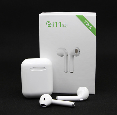 i11 TWS bluetooth earbuds Earpods 5.0 wireless headsets headphones true stereo