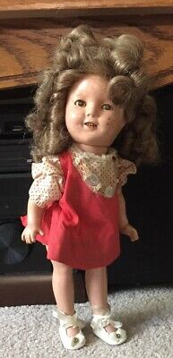 "Ideal Shirley Temple 13"" Vintage Composition Doll AS IS for repair"