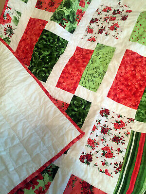 New Beautiful and Vibrant Handmade Lap Quilts by Diana