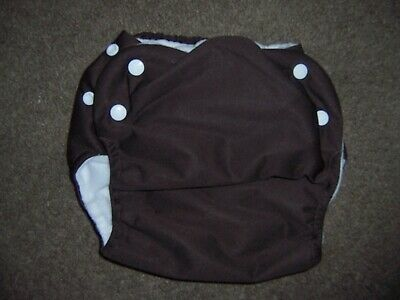 Knicker Nappies cloth diaper side snap New Brown size Large