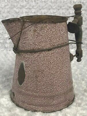 Rustic Water Metal Pitcher Watering Can Great Patina Vintage Kitchen Home Decor