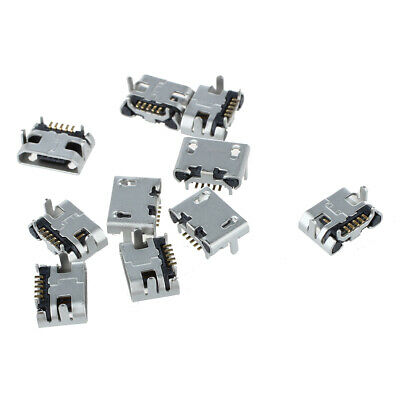 10 Pcs Type B Micro USB Female 5 Pin Jack Port Socket Connector Repair M4I3