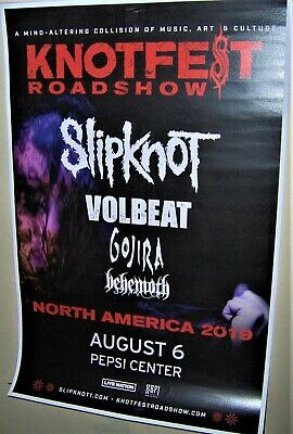 SLIPKNOT KNOTFEST Roadshow in Concert Show Poster Denver Co Aug 2019 GOJIRA Volb