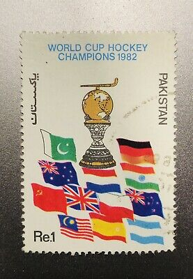 Pakistan Stamp 1982 World Cup Hockey Champions *RARE*