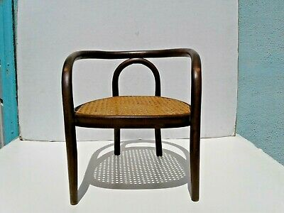 Rare Antique Vintage Childs or Doll Bentwood Wood Chair By THONET