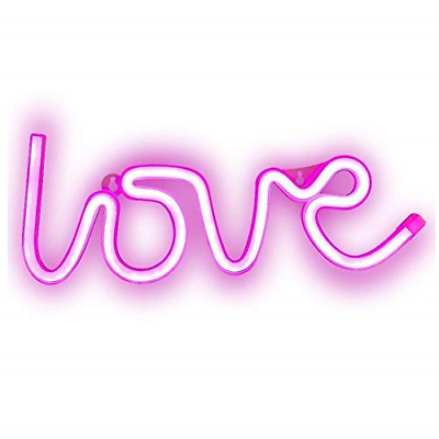 Neon LED Love Signs Neon Lights with Lamp Art Decorative Night Lights Wall Decor