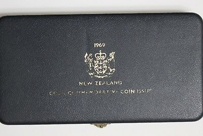 New Zealand 1969 Proof Set Captain Cook in Official Plush Case (ME7/E1)