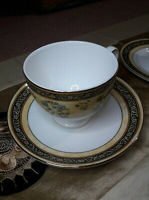 Wedgwood India Bone China CUPS With SAUCERS X 4 Unused VERY RARE