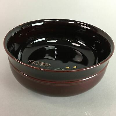 Japanese Wooden Lacquer Snack Bowl Vtg Kashiki Makie Tea Ceremony UR132