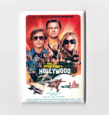 "ONCE UPON A TIME IN HOLLYWOOD / ILLUSTRATED - 2"" x 3"" POSTER MAGNET tarantino"