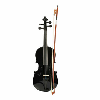 1/2 Student Acoustic Violin Size Case Bow Rosin For 9-10 Years Old Kid Gift New