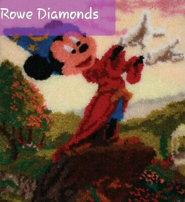 DIY Cute Disney's Fantasia Wizard mickey  Make your own Large Latch Hook Rug new