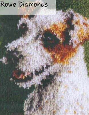 DIY Cute Jack Russell Puppy Dog Make your own Latch Hook Rug Carpet Crochet New