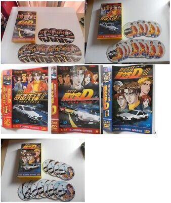 Initial D Anime Volume 1, 2 and 3  39 disk VCD complete in Chinese