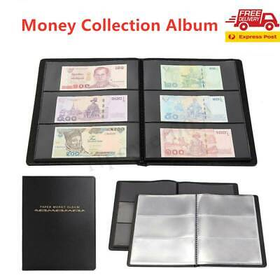 60 Pocket Holder Money Note Storage Stamps Ticket Banknote Collection Album Book