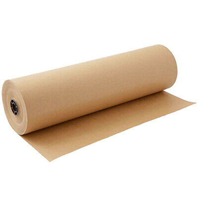20M Brown Kraft Paper Roll for Wedding Birthday Party Gift Wrapping Craft P Z5T9