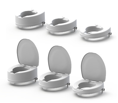 Raised Toilet Seat with Lids