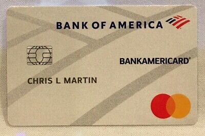 Bank of America BankAmericard Promo Promotional Fake Credit Card on Cardstock