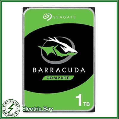 "1TB Seagate BarraCuda 3.5"" SATA Internal Desktop Hard Drive HDD 7200RPM 64MB"