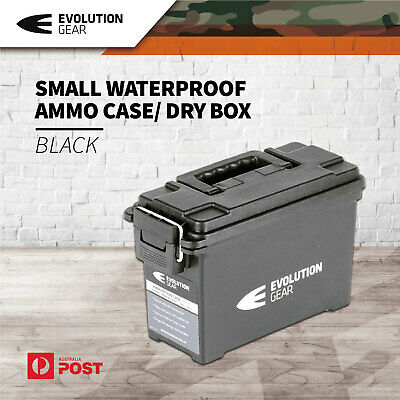Evolution Gear Small Ammunition Box Waterproof Ammo Case / Dry Box Black