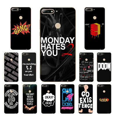 Soft Case For Huawei Enjoy 5 8 9 Silicone Y7 Prime 2018 Y6 Pro Back Covers MTV