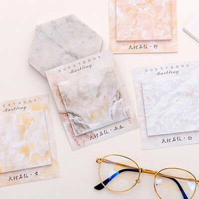 Printed Marble Memo Pad Self-Adhesive N Times Sticky School Supplies Stationery