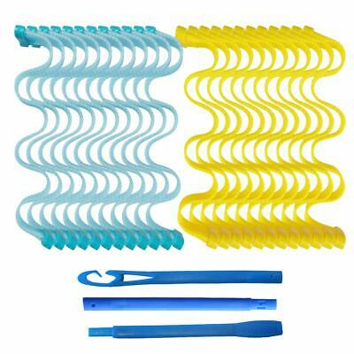 New 12/24PCS Magic Hair Curlers Curl Formers Spiral Ringlets Leverage Rollers
