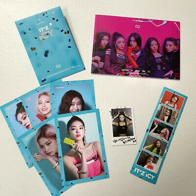 Itzy - It'z Icy B Type Pre-Order Benefit Booklet+Photocard+Postcard Set+Sticker