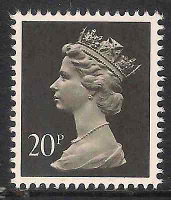 GB 1989 sg X916 20p Brownish Black photogravure 2 bands booklet stamp MNH