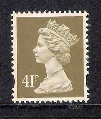 GB 1993 sg Y1780 41p Drab litho 2 bands booklet stamp MNH ex Y1757