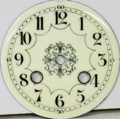 Antique French Enamel Porcelain 8 Day Mantle Clock Dial - Clock Spares