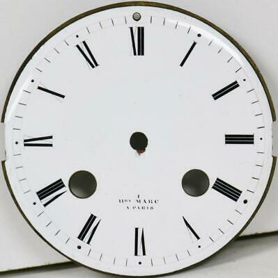 Antique French Henry Marc White Porcelain 8 Day Mantle Clock Dial - Clock Spares