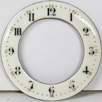 Antique French Porcelain Chapter Ring 8 Day Mantle Clock Dial - Great Spares