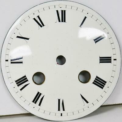 Antique French White Enamel Porcelain 8 Day Mantle Clock Dial - Great Spares