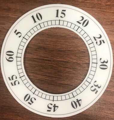 Clock Dial Chaptering Transfer Minute Dial Sticking Back Dial For Clocks 8cm