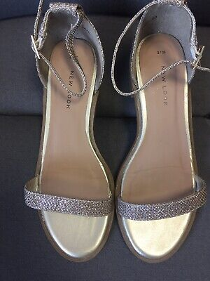 Gorgeous Girls Gold Sandals From New Look Size 3. Worn Once